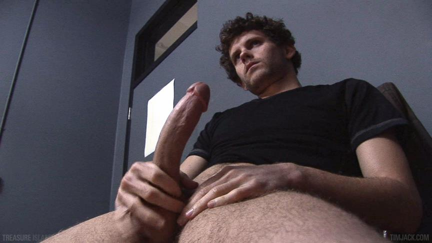 "Treasure-Island-Media-TimJACK-Wolf-Hall-8-Inch-Cock-Masturbation-Amateur-Gay-Porn-03 Treasure Island Media: Wolf Hall Strokes Out A Load From His 8"" Cock"