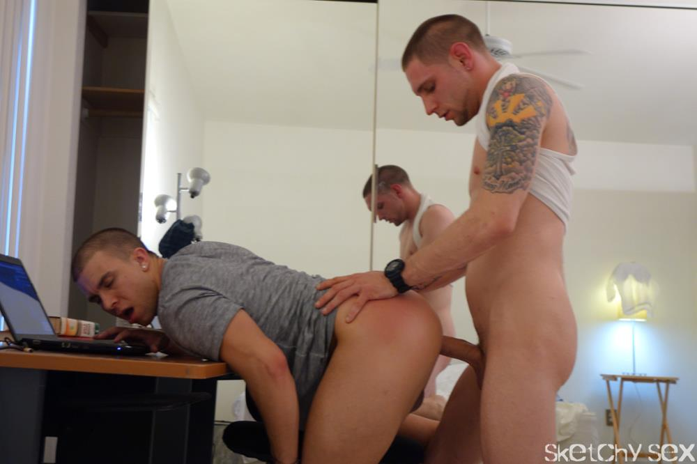 Sketchy-Sex-Eli-Taking-an-Anonymous-raw-cock-up-the-ass-Amateur-Gay-Porn-6 Young Guy Taking Anonymous Bareback Loads Up His Ass