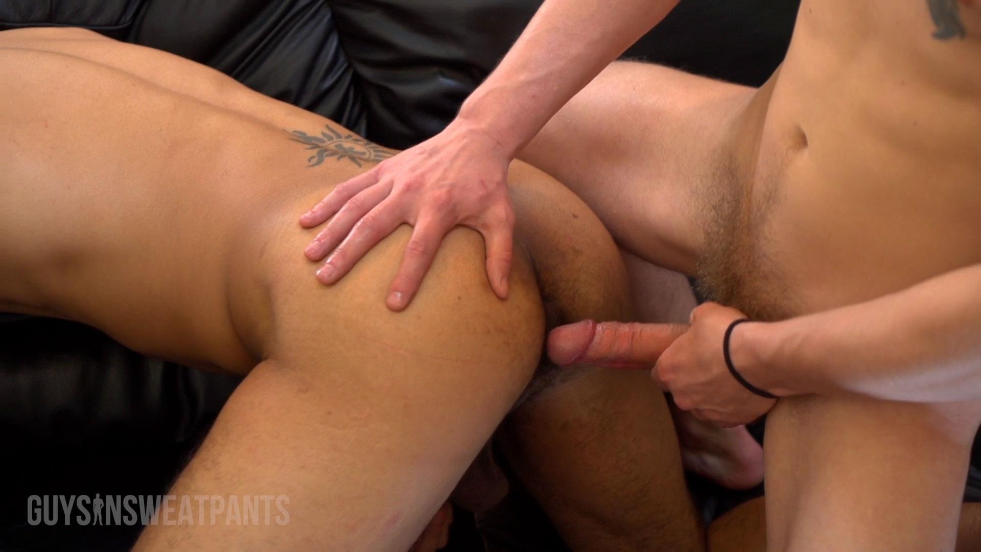 Guys-In-Sweatpants-Ezekiel-Stone-and-Dillon-Hays-Interracial-bareback-fucking-Amateur-Gay-Porn-03 Hot Black Guy Gets Barebacked By A Sexy White Stud With A Big Uncut Cock