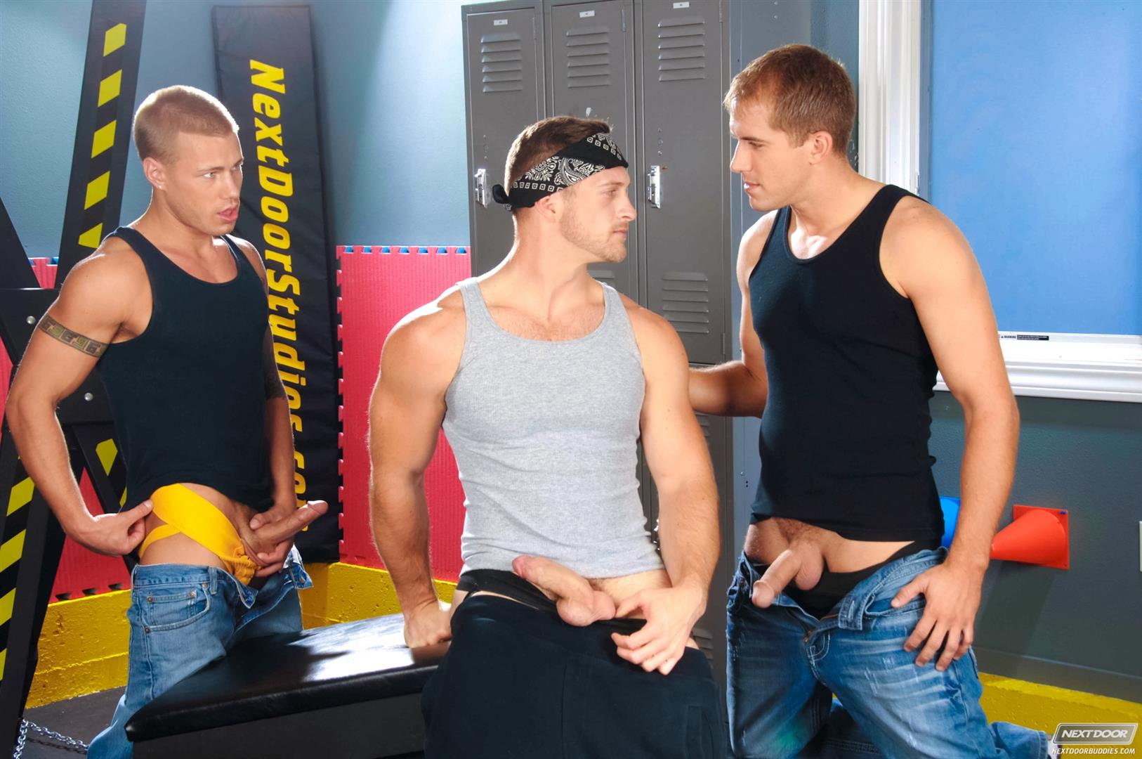 Next-Door-Buddies-Brandon-Lewis-Paul-Wagner-Brody-Wilder-Hung-Jocks-Fucking-In-The-Locker-Room-Amateur-Gay-Porn-02 Muscle Jocks Tag Teaming A Hot Muscle Ass In The Gym Locker Room