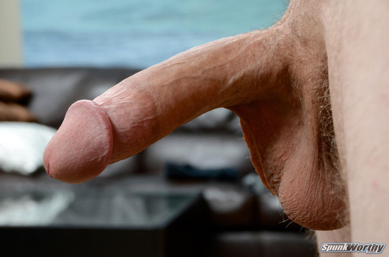 "SpunkWorthy-Dane-Tatted-Marine-Masturbating-8-Inch-Cock-Amateur-Gay-Porn-09 Amateur StraightTatted Marine Jerking His Big 9"" Cock"