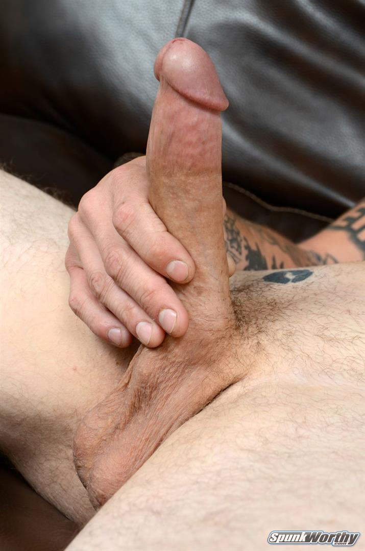 "SpunkWorthy-Dane-Tatted-Marine-Masturbating-8-Inch-Cock-Amateur-Gay-Porn-14 Amateur StraightTatted Marine Jerking His Big 9"" Cock"