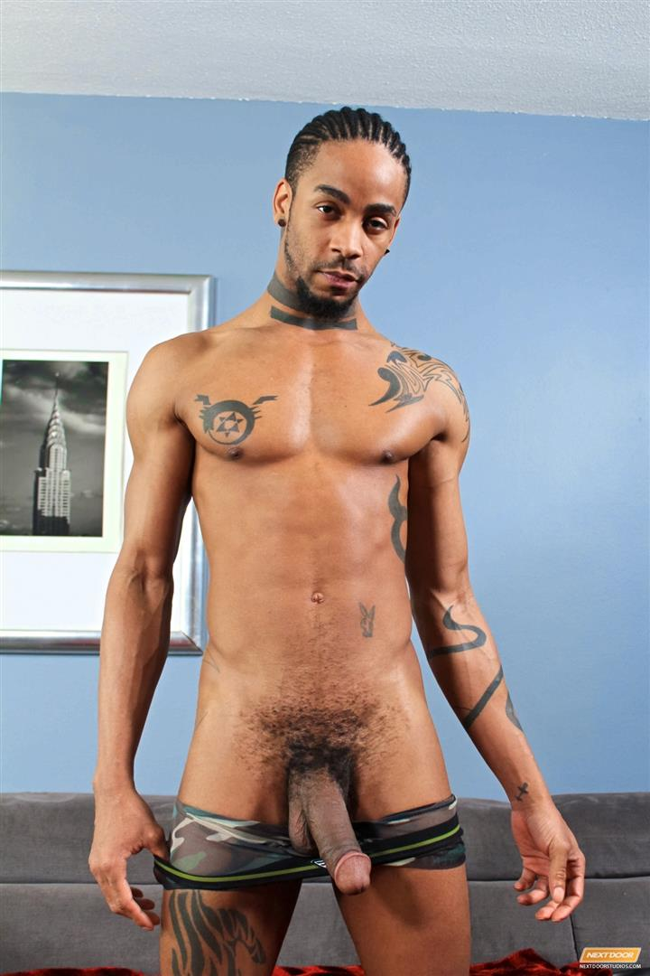 Next-Door-Ebony-Jin-Powers-Big-Black-Cock-Ghetto-Cock-Amateur-Gay-Porn-12 Jin Powers Jerks His Big Black Ghetto Cock