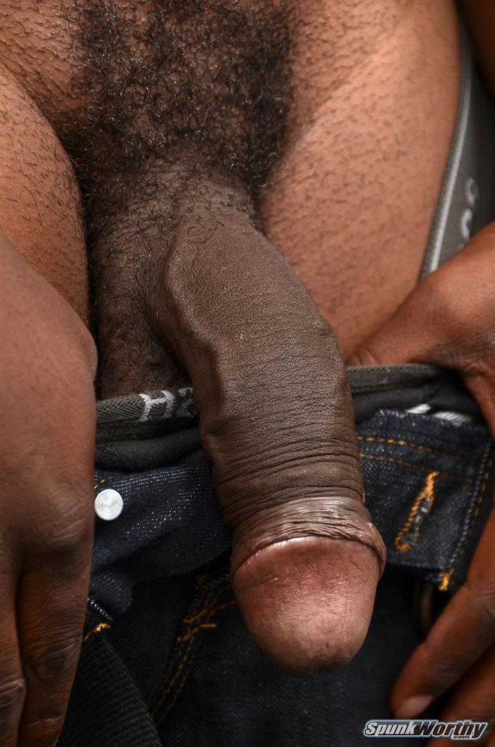 SpunkWorthy-Heath-Naked-College-Football-Player-Stroking-His-Big-Black-Cock-Amateur-Gay-Porn-04 Straight College Football Player Jerking His Big Uncut Black Cock