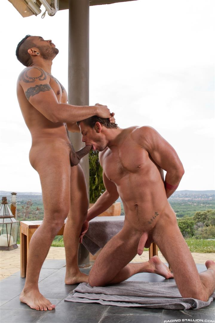 Raging Stallion Lucio Saints and Toby Dutch Big Uncut Cock Gay Sex Amateur Gay Porn 02 Lucio Saints Fucking Toby Dutch With His Big Uncut Cock