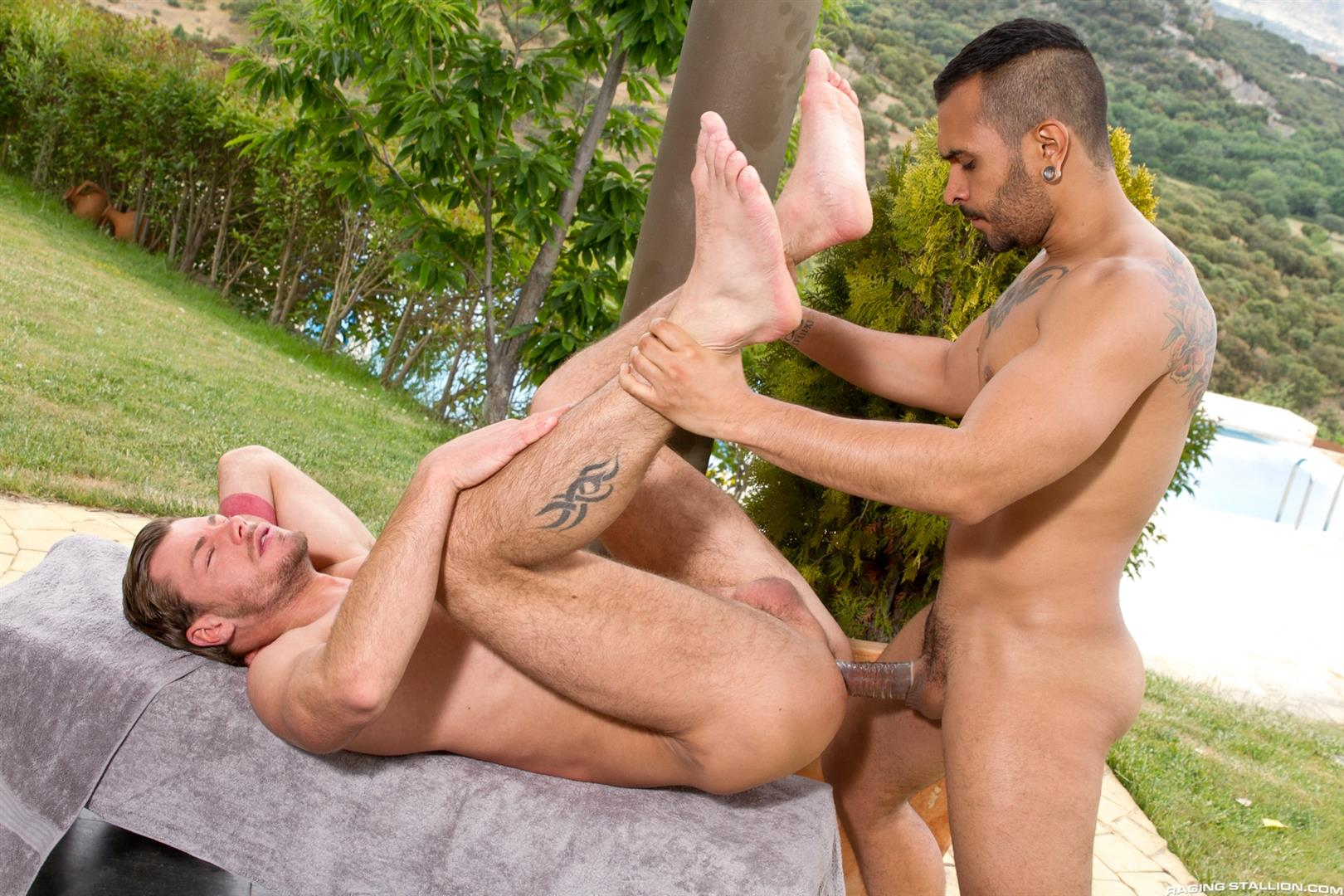 Raging Stallion Lucio Saints and Toby Dutch Big Uncut Cock Gay Sex Amateur Gay Porn 06 Lucio Saints Fucking Toby Dutch With His Big Uncut Cock