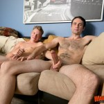 Wank This Andrew Doncaster and Derek Nocturne Huge Cock Sucking Roommates Amateur Gay Porn 12 150x150 Two Roommates With Huge Cocks  Sucking And Eating Cum