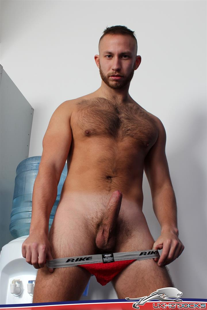 UK Hot Jocks Brent Taylor Hairy Muscle Jock With A Big Uncut Cock Jerking Off Amateur Gay Porn 08 UK Hairy Muscle Jock Brent Taylor Jerking His Big Uncut Cock