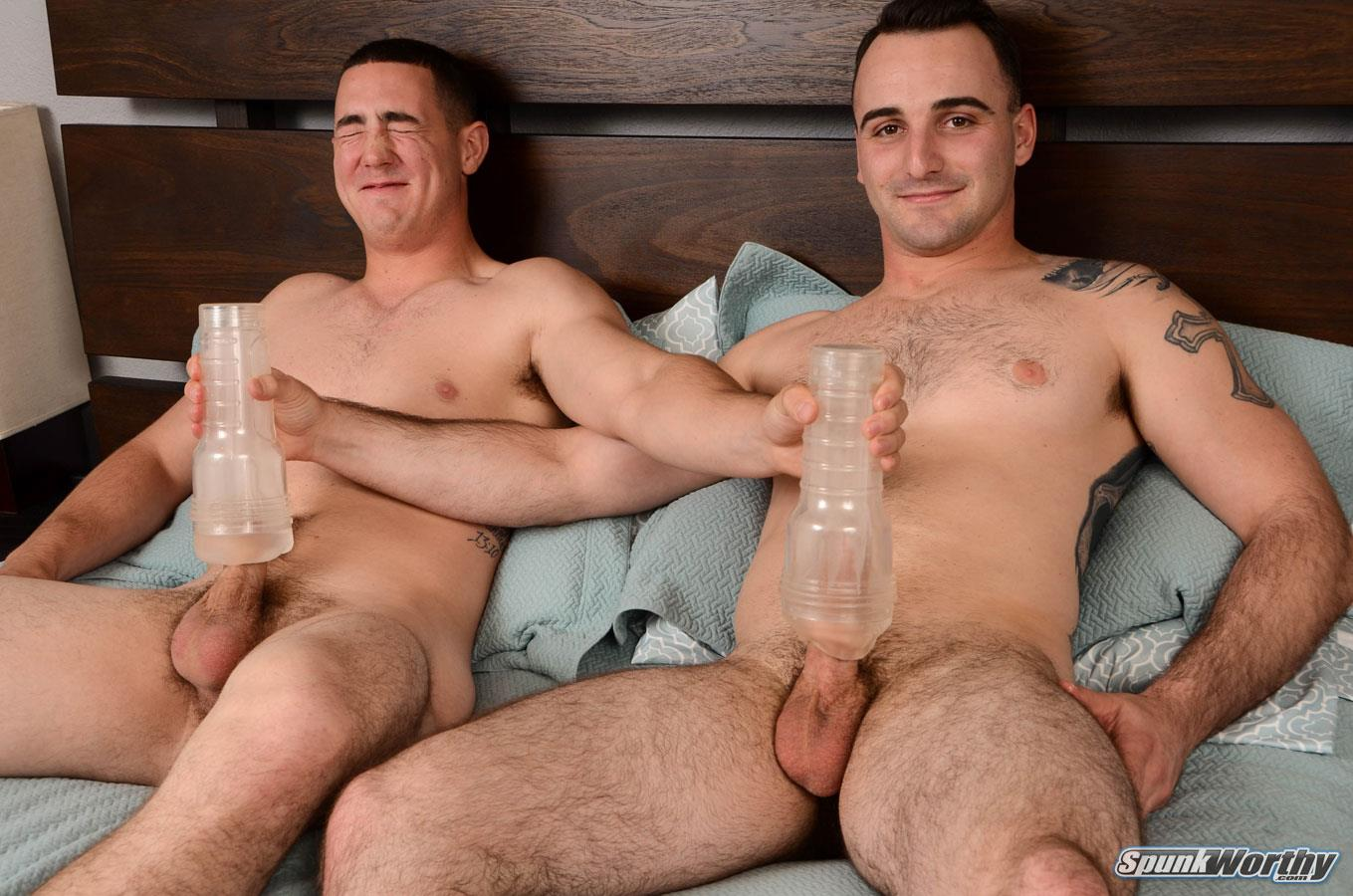 friends other masturbate male Straight each
