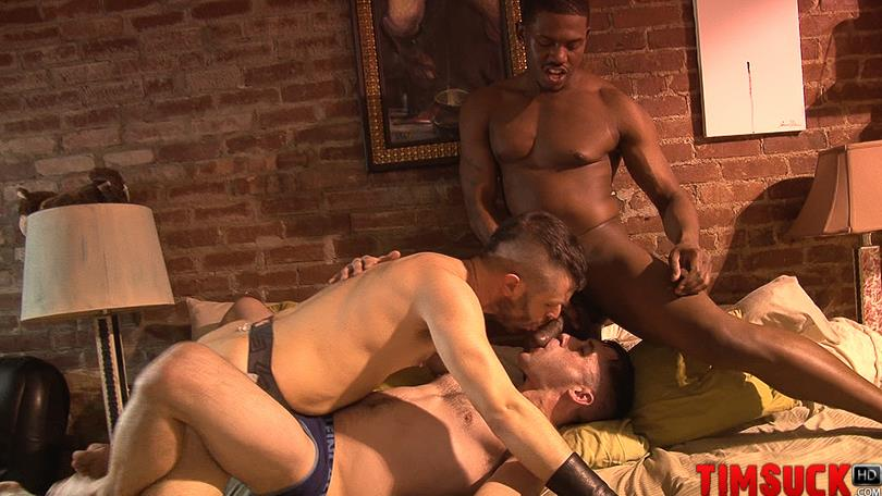 Treasure-Island-Media-TimSuck-Krave-and-Kyle-Ferris-and-James-Eden-Big-Black-Cock-Amateur-Gay-Porn-5 Two White Guys Worshipping Krave's Big Black Cock