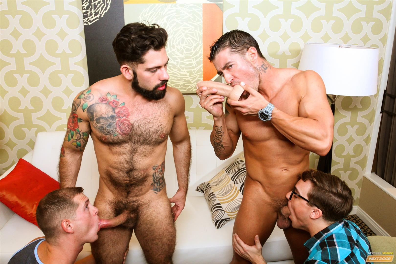 Cody Cummings and Tyler Morgan and Alessandro Del Torro Cock Sucking Lessons Amateur Gay Porn 13 Cody Cummings Gives The Boys Cock Sucking Lessons