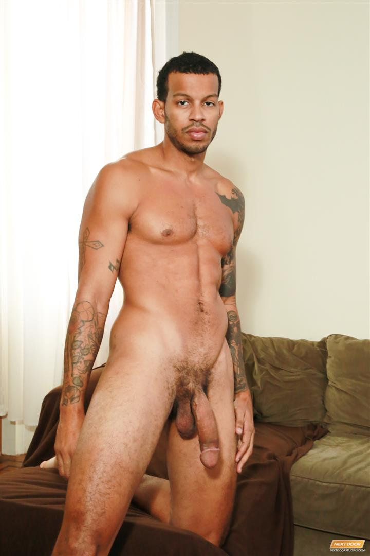 Next-Door-Ebony-Mike-Mann-Naked-Black-Man-Jerking-His-Big-Black-Cock-Amateur-Gay-Porn-13 Sexy Amateur Black Hipster Jerking His Big Black Cock