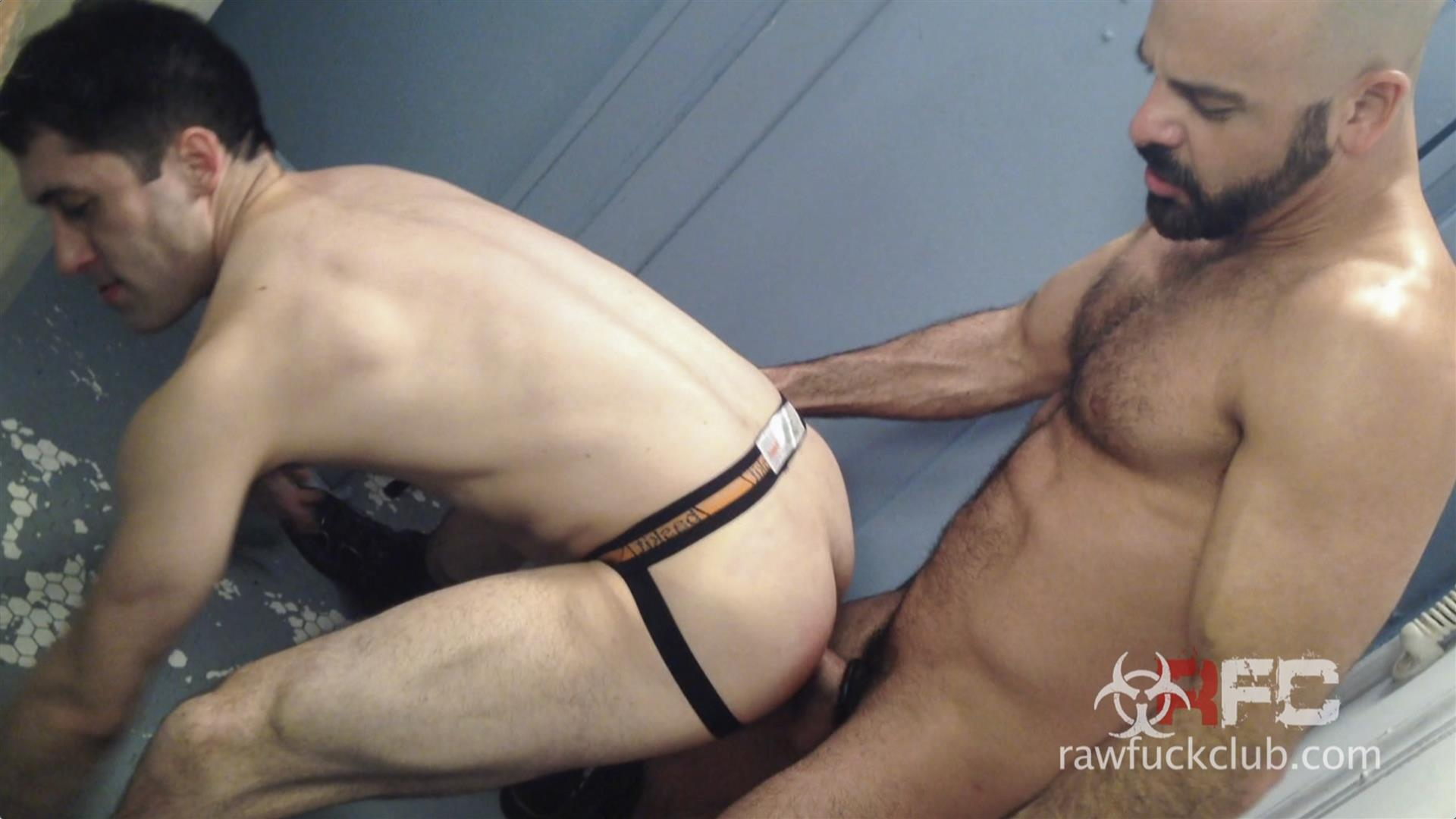 Raw Fuck Club Adam Russo and Kyle Ferris Anonymous Bareback Sex Amateur Gay Porn 6 Adam Russo Barebacking A Stranger In A Dirty Bar Bathroom