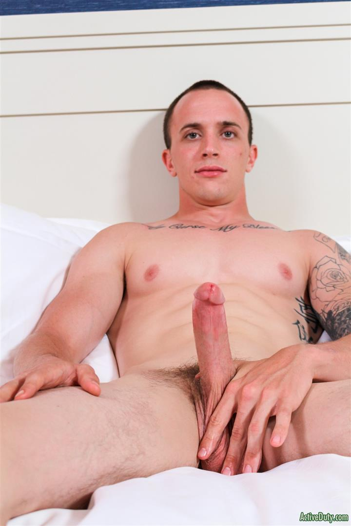 Active Duty James Straight Army Guy Jerking Off His Big Cock Amateur Gay Porn 09 Tatted Straight Army Hunk Auditions For Gay Porn and Shoots A Big Load