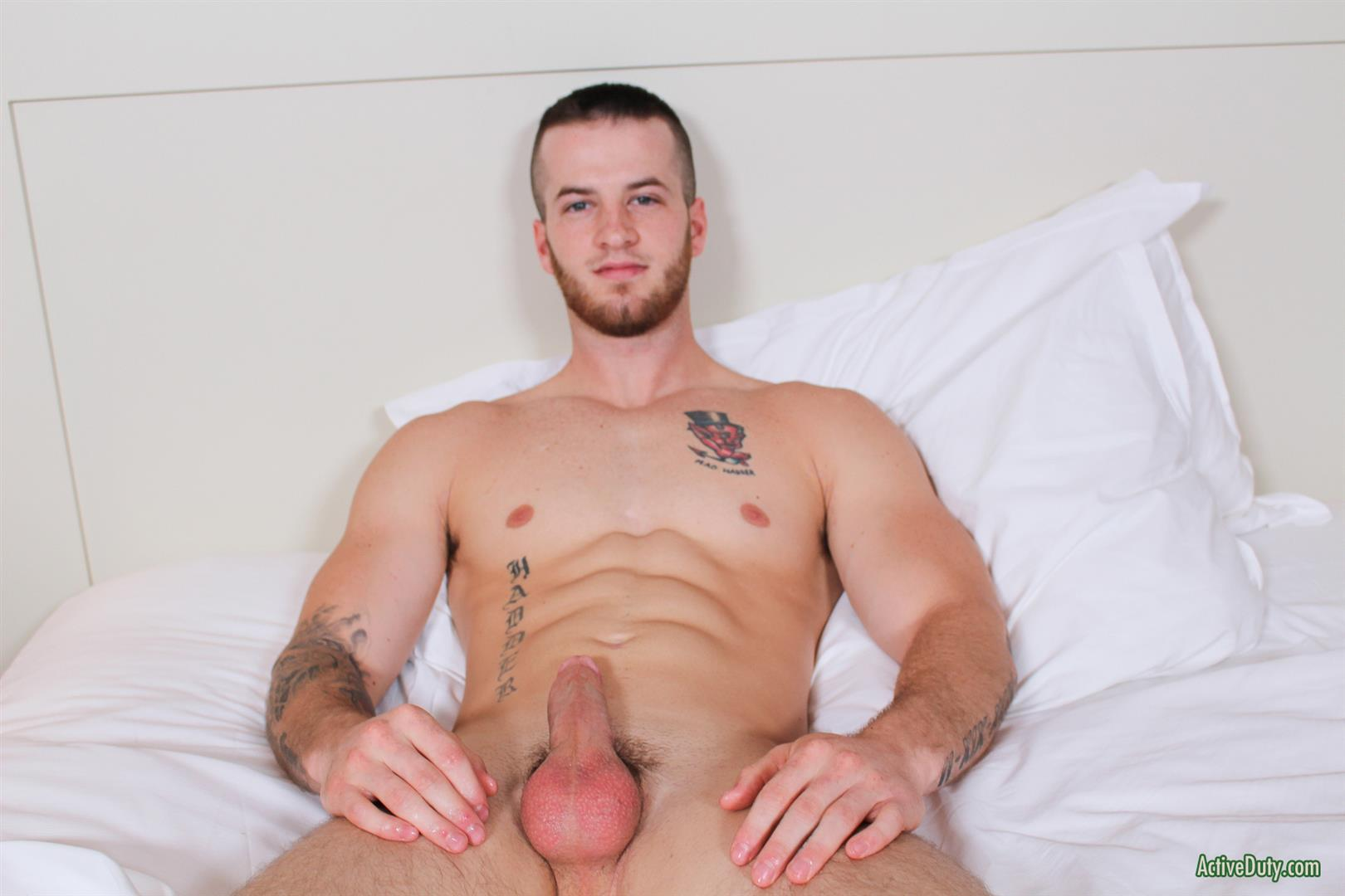 Active-Duty-Quentin-Muscular-Naked-Army-Soldier-Masturbating-Big-Cock-Amateur-Gay-Porn-12 Straight Army Private Stokes His Big Cock On Video For The First Time