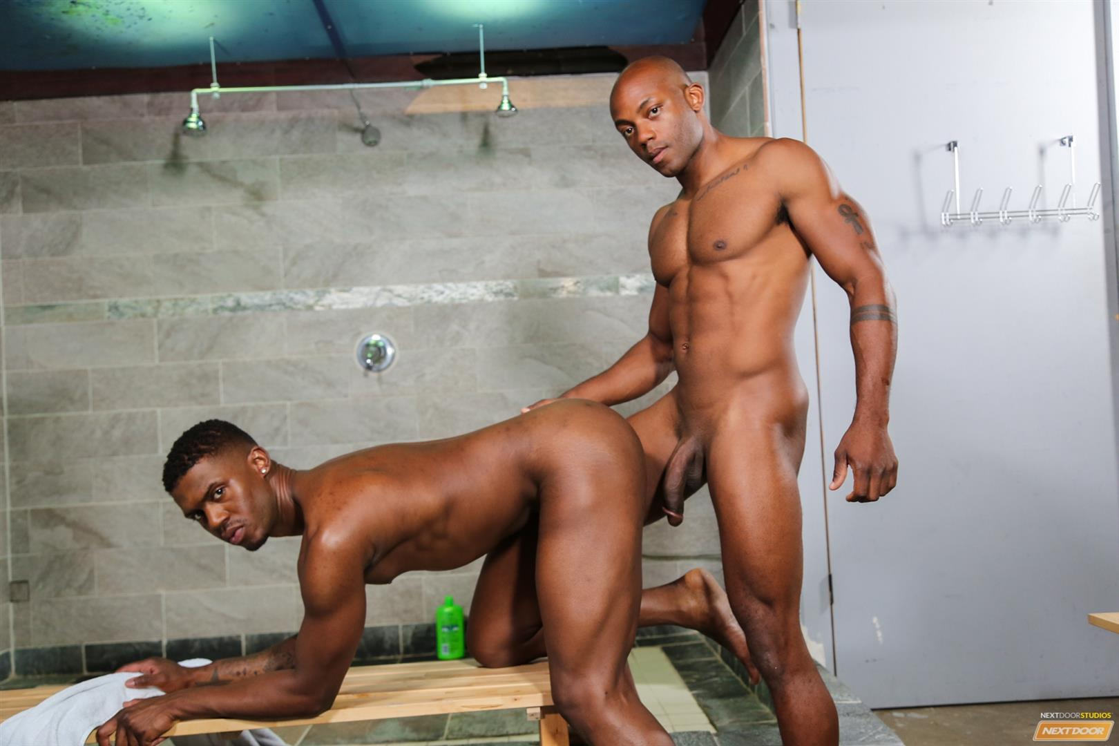 Next Door Ebony Krave Moore and Osiris Blade Big Black Cocks Dicks Fucking Amateur Gay Porn 12 Muscular Black Guys Take Turns Fucking Each Other In The Locker Room