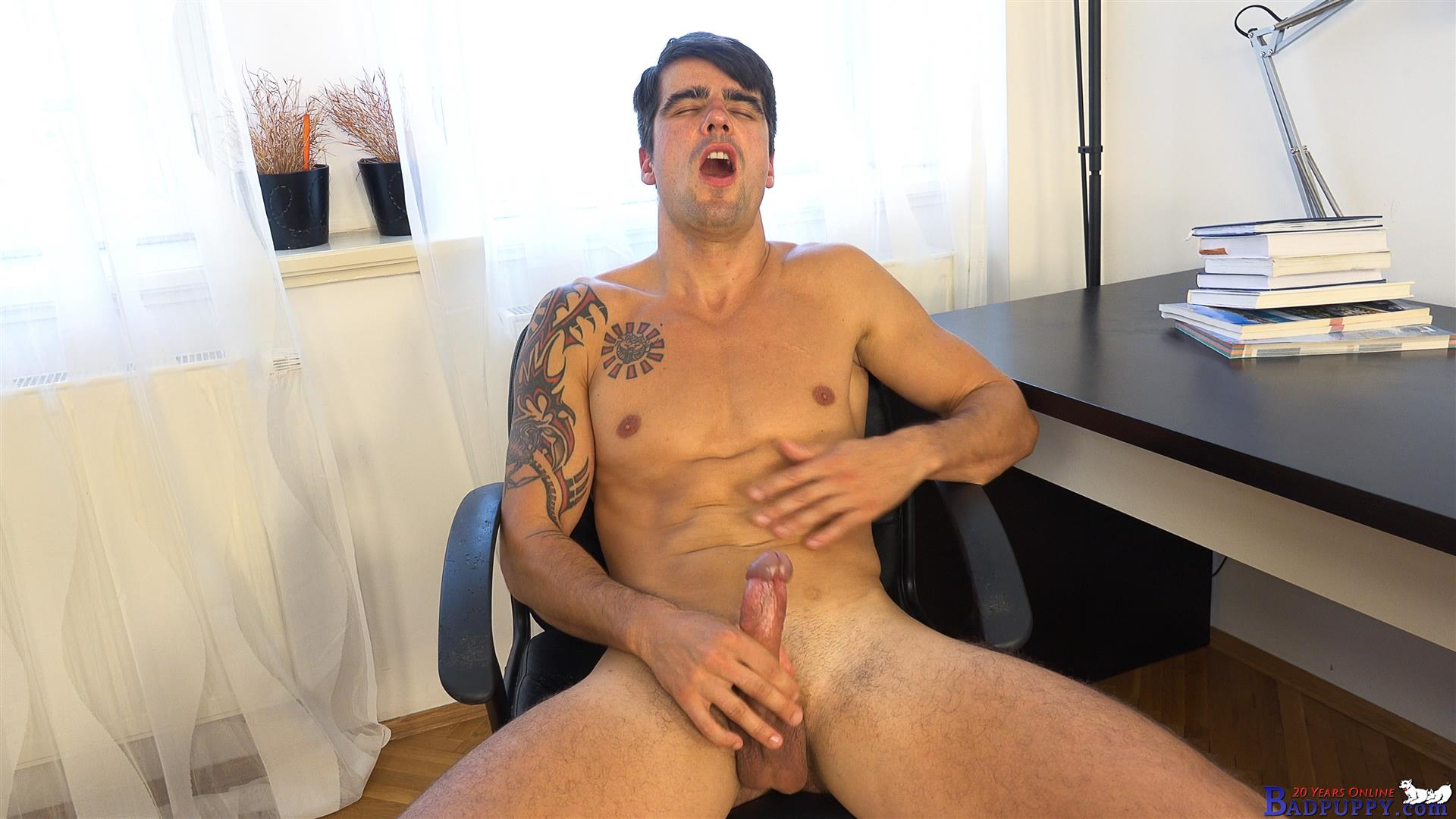 Badpuppy-Milan-Pis-Straight-Guy-With-Big-Uncut-Cock-Masturbating-Amateur-Gay-Porn-15 Straight Italian Banker Masturbating His Big Uncut Cock