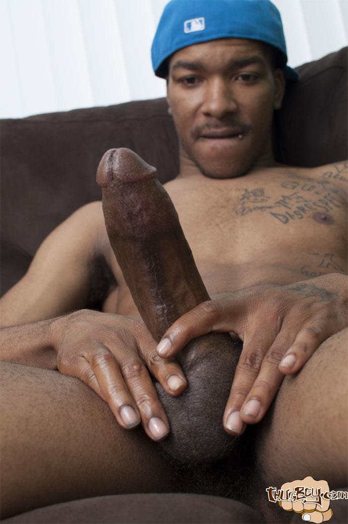 Thug Boys Black Noir Big Black Cock Jerk Off Video Amateur Gay Porn 20 Straight LA Thug Black Noir Jerking His Big Black Cock