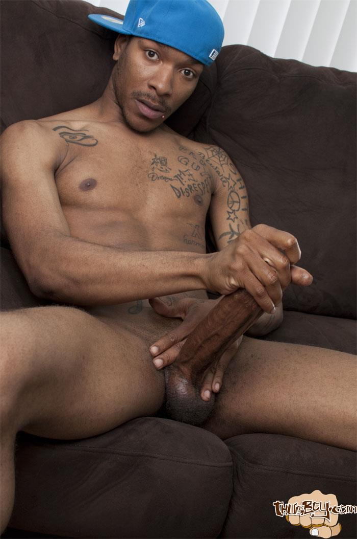 Thug Boys Black Noir Big Black Cock Jerk Off Video Amateur Gay Porn 42 Straight LA Thug Black Noir Jerking His Big Black Cock
