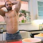 Maskurbate Muscle Hunk With A Big Uncut Cock Jerking Off Amateur Gay Porn 02 150x150 The Naked Chef Jerks His Big Uncut Cock In The Kitchen