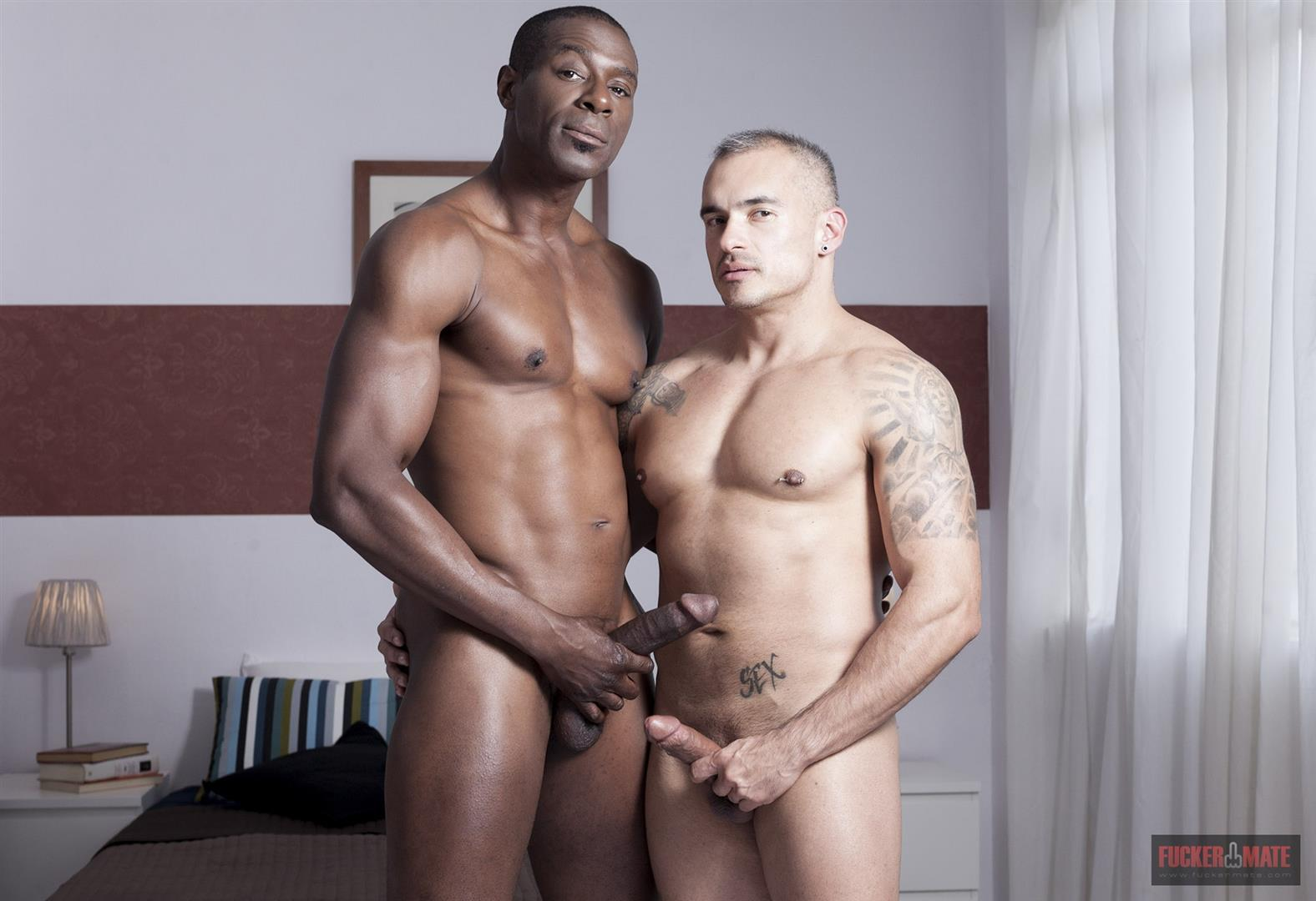 Fuckermate Titan and Santi Noguera Big Black Dick Barebacking Muscle Bottom Amateur Gay Porn 2 Big Black Horse Cock Aggressively Fucks A White Muscle Bottom