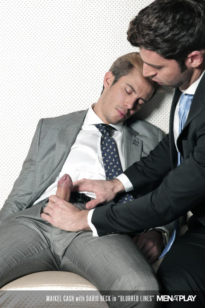 Men At Play Dario Beck and Maikel Cash Guys In Suits Fucking Amateur Gay Porn 11 Dario Beck Gets His Hairy Ass Fucked By Maikel Cashs Thick Uncut Dick