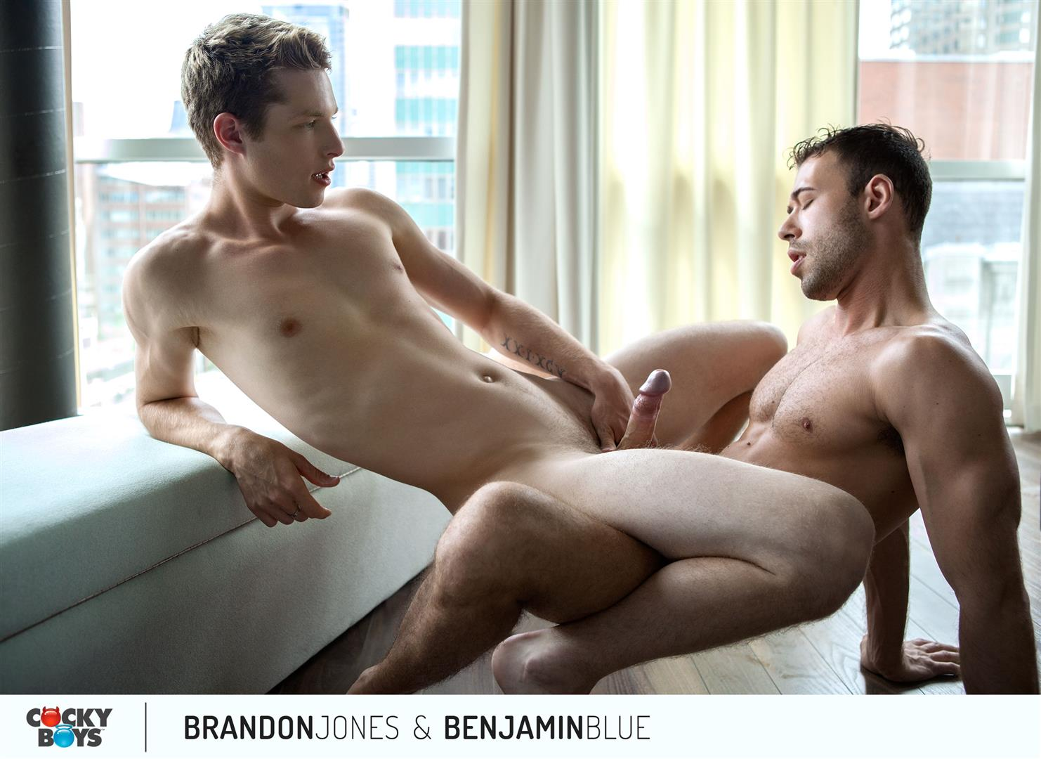Cockyboys Benjamin Blue and Brandon Jones Flip Flop Fuck Amateur Gay Porn 23 Cockyboys: Benjamin Blue Tops Brandon Jones For The First Time