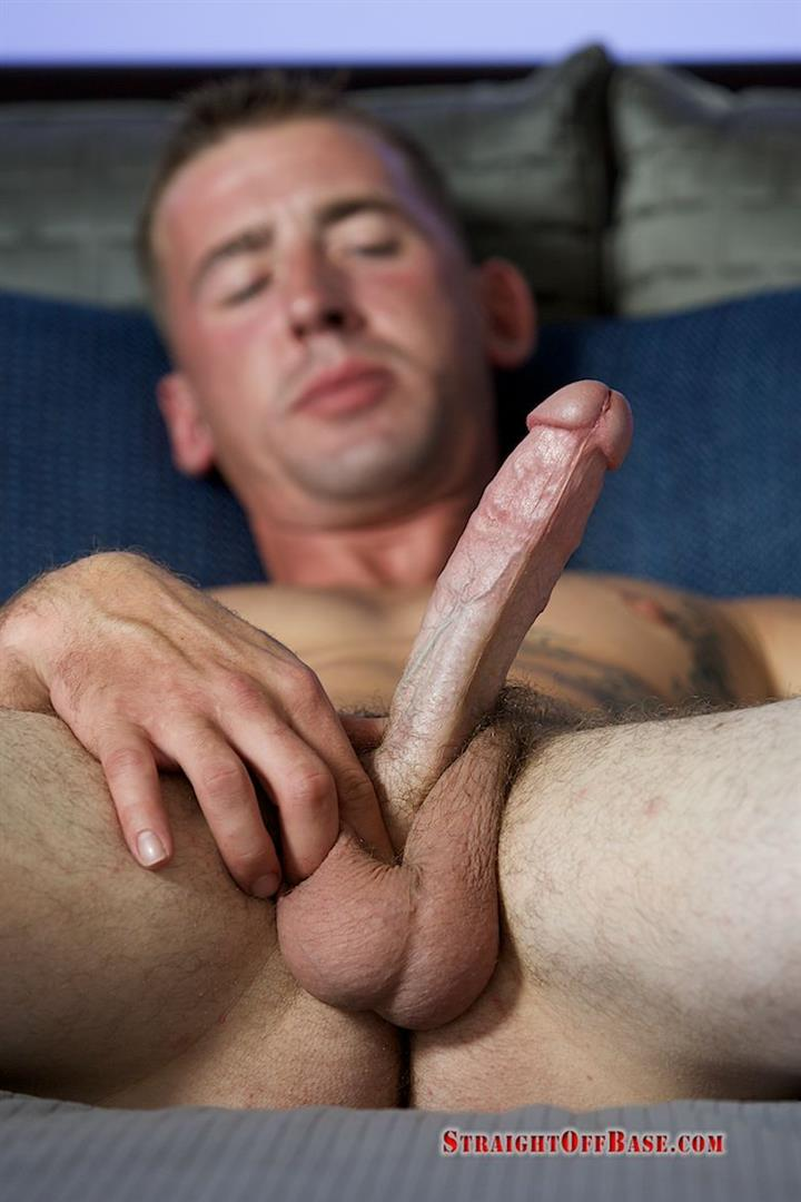 "Straight-Off-Base-Naked-Marine-Jerking-Off-Dean-Amateur-Gay-Porn-07 Straight US Marine Sergeant Rubs One Out Of His 8"" Cock"