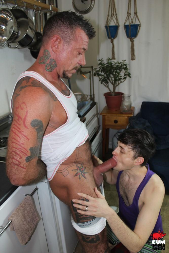 Cum Pig Men Ray Dalton Daddy Gets His Big Cock Sucked 07 Sucking The Cum Out Of A Big Thick Daddy Cock