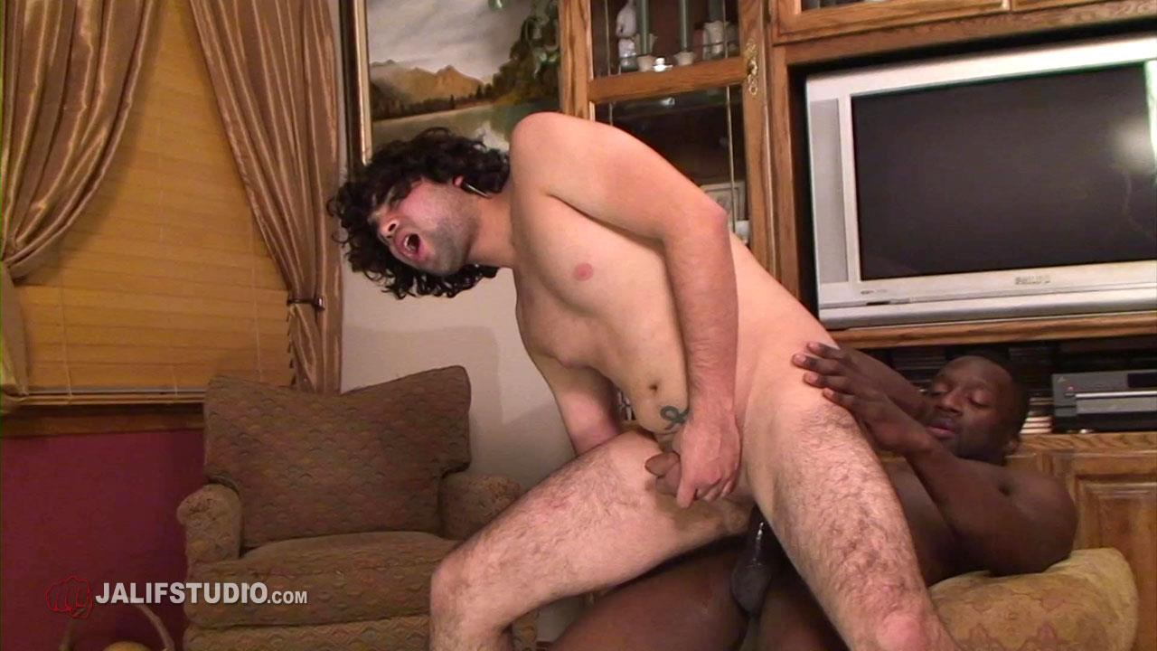 Jalif Studio Hot Boi and Gabriel Blue Interracial Bareback Fucking 08 Big Thick Black Cock Bareback Fucking A Hairy White Boys Ass