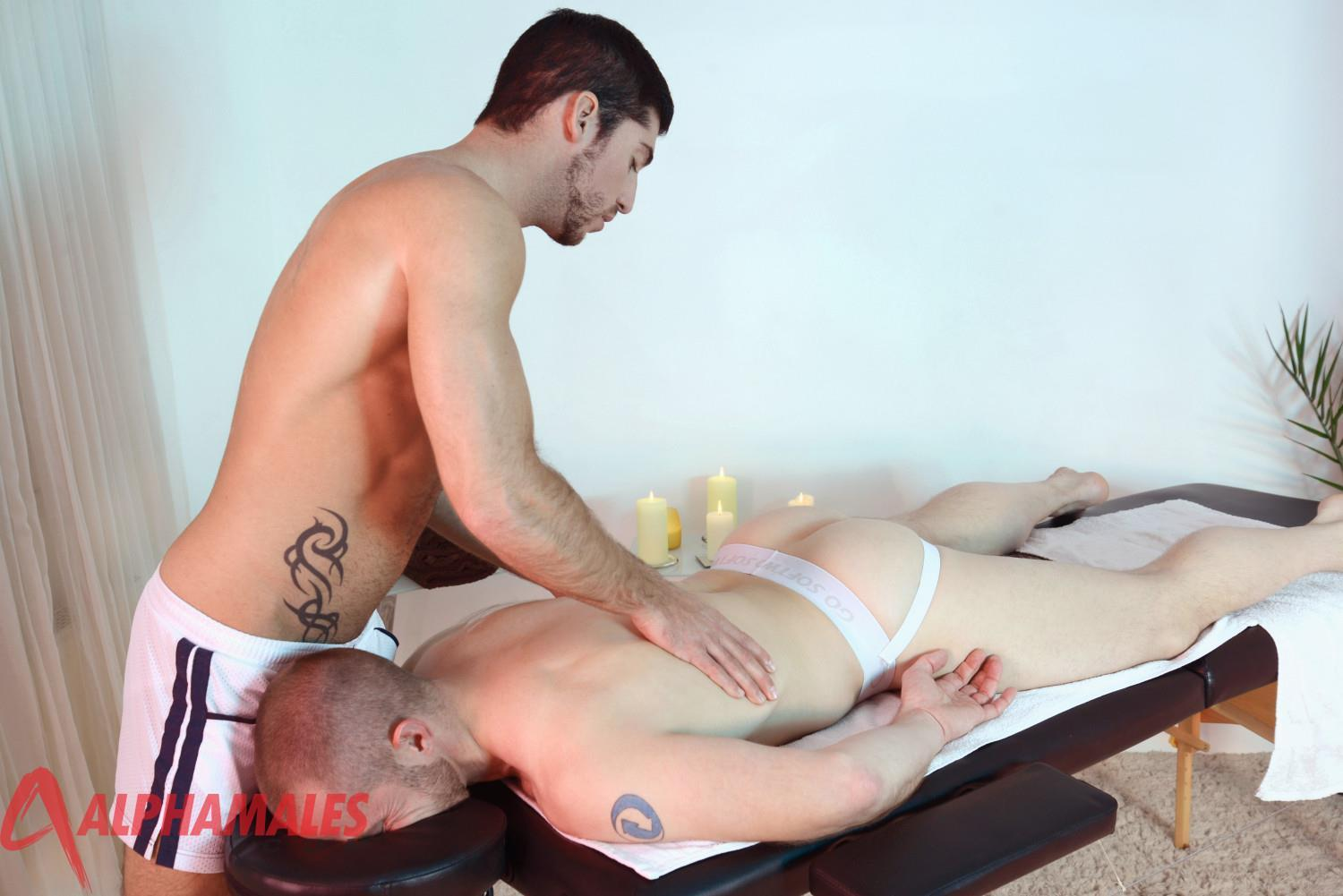 AlphaMales Leo Domenico and Adam Herst Jocks With Big Uncut Cocks 01 Jocks With Big Uncut Cocks Fucking During A Massage