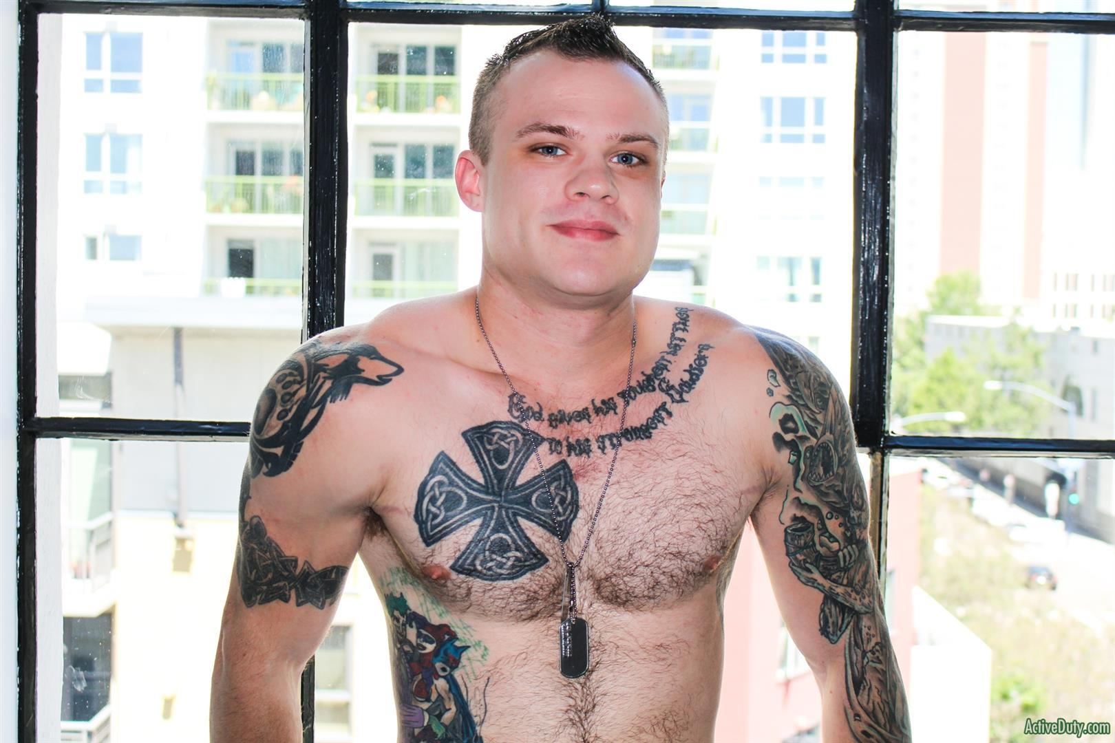 Active Duty Cody Smith Army Hairy Muscle Guy Jerking Off Big Dick 07 Hairy Tatted Muscle Army Soldier Jerking His Cock