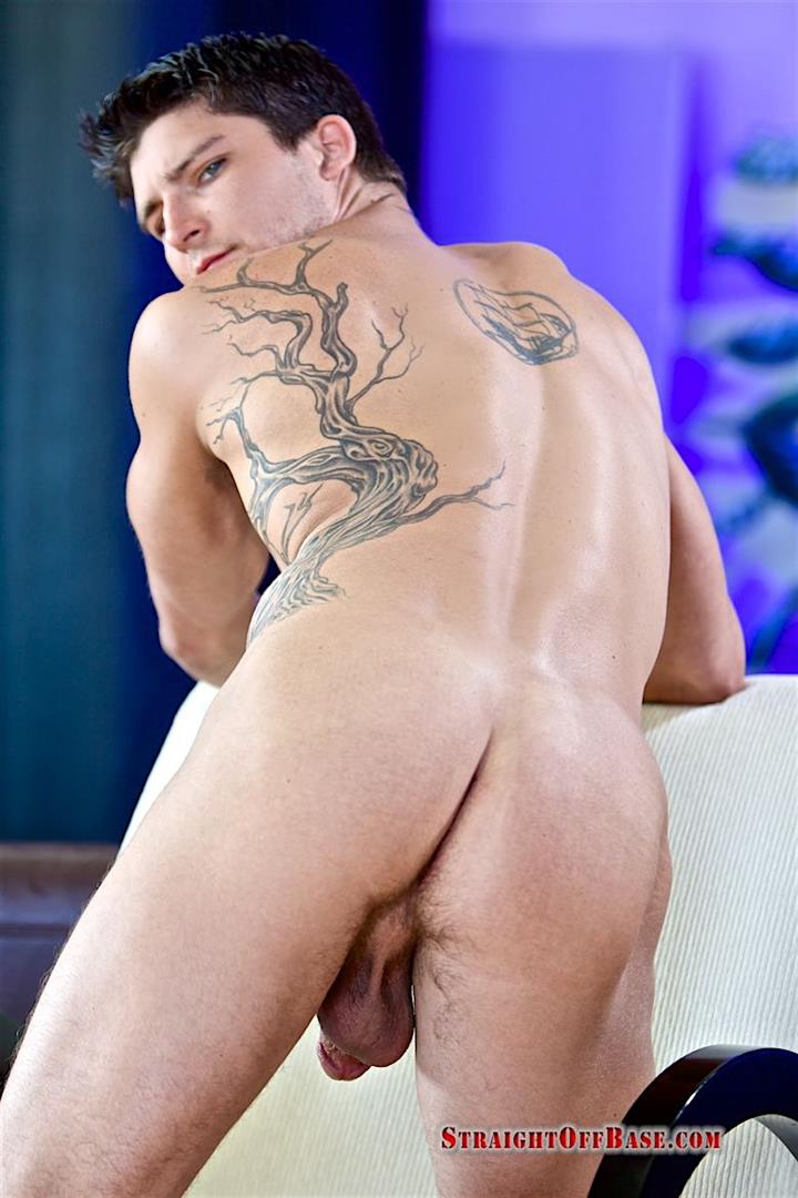 Straight-Off-Base-Tyson-Navy-Officer-Big-Dick-Jerk-Off-14 Muscular Navy Petty Officer Strokes his Big Fat Cock