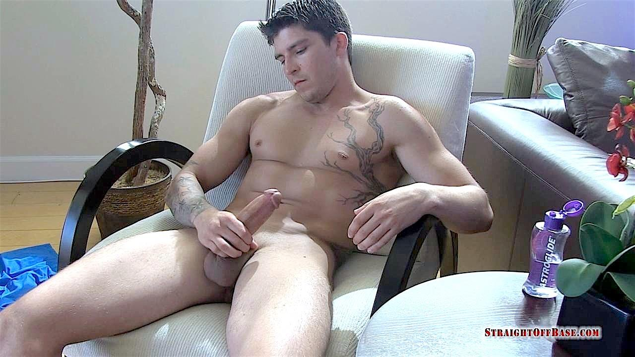 Straight-Off-Base-Tyson-Navy-Officer-Big-Dick-Jerk-Off-17 Muscular Navy Petty Officer Strokes his Big Fat Cock