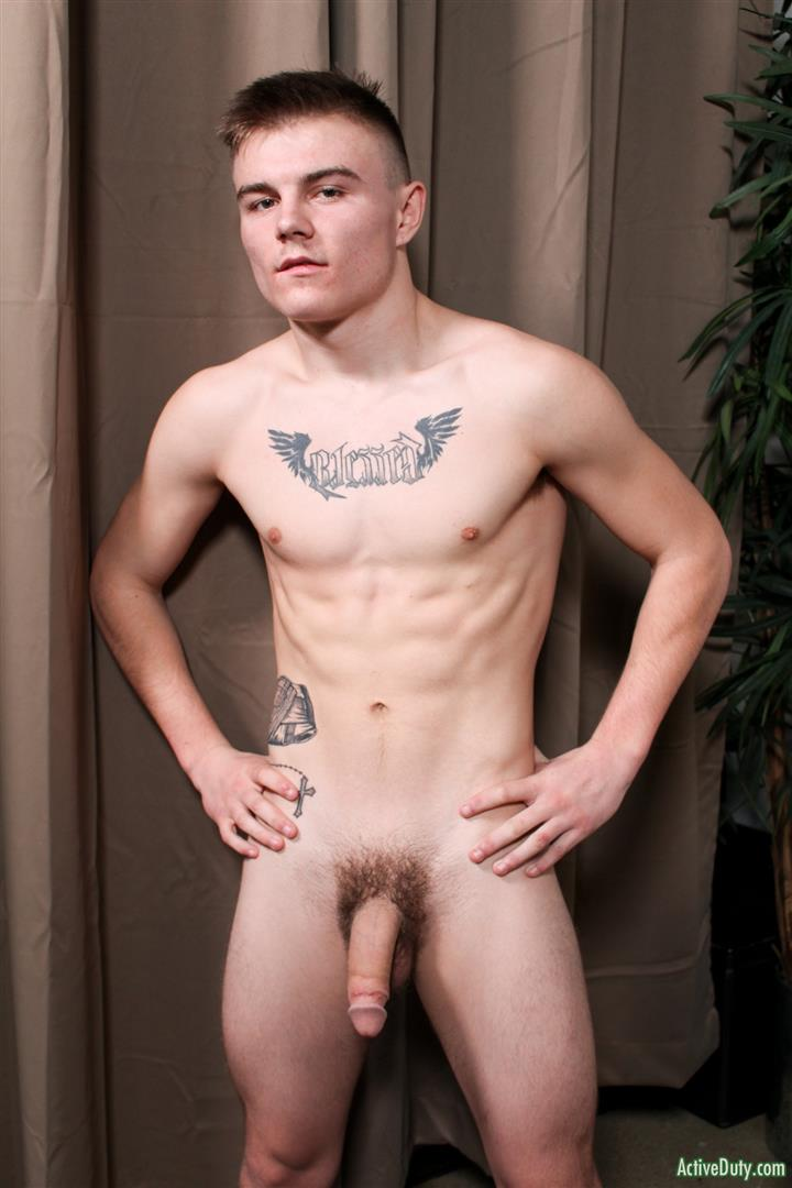 Active-Duty-Kyler-Build-Naked-Army-Guy-Thick-Cock-Jerk-off-08 Hairy Ass Straight Army Boy Strokes Out Two Loads