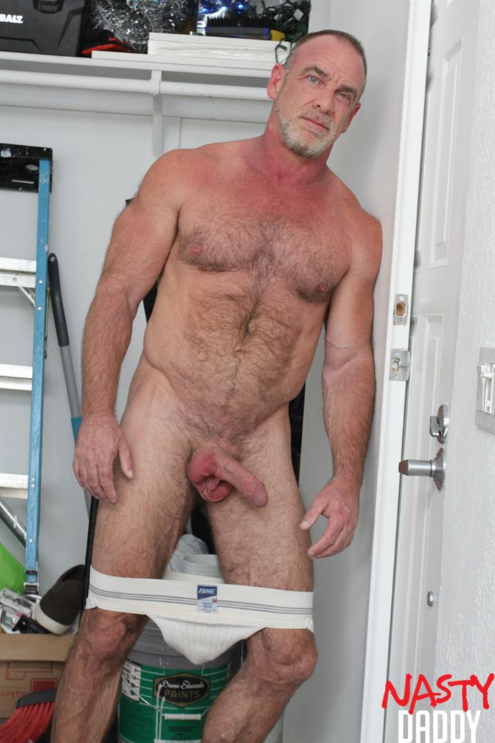 Nasty-Daddy-Trace-OMalley-Hairy-muscle-Daddy-With-Thick-Cock-Jerk-Off-Video-15 Hairy Muscle Daddy Shows Off His Thick Cock And Jerks Off