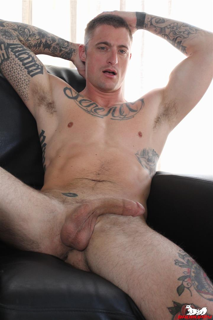 Badpuppy-Dane-Stewart-Naked-Tattoo-Stud-Jerking-Off-His-Big-Cock-Video-13 Big Dick Tattoo Artist Dane Stewart Jerks Off His Big Cut Cock