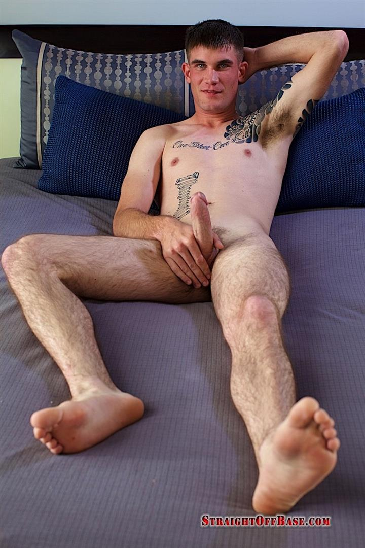 Straight-Off-Base-Brady-Naked-Marine-Jerking-Off-Big-Cock-Video-13 Straight Marine Jerks His Big Dick On Camera For Cash