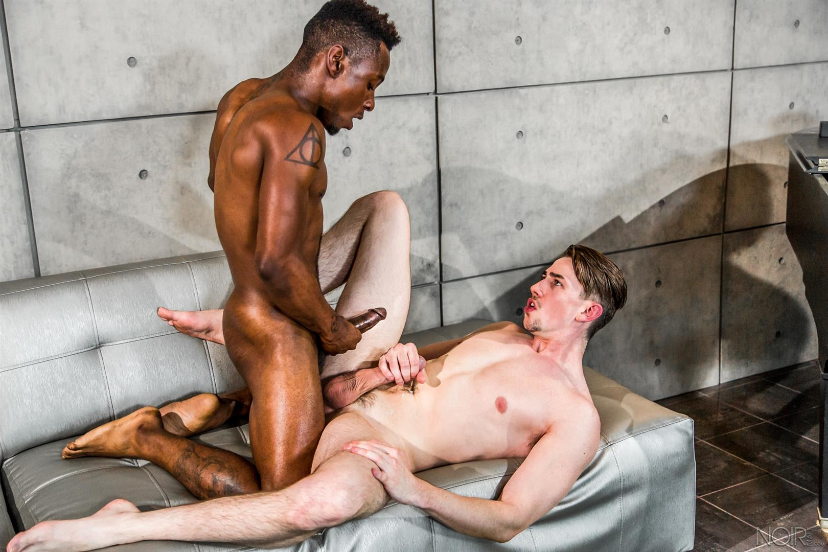 Noir-Male-Jack-Hunter-and-Miller-Axton-Big-Black-Dick-Interracial-Gay-Sex-Video-14 Jack Hunter Gets A Mouthful Of Cum From A Big Black Cock