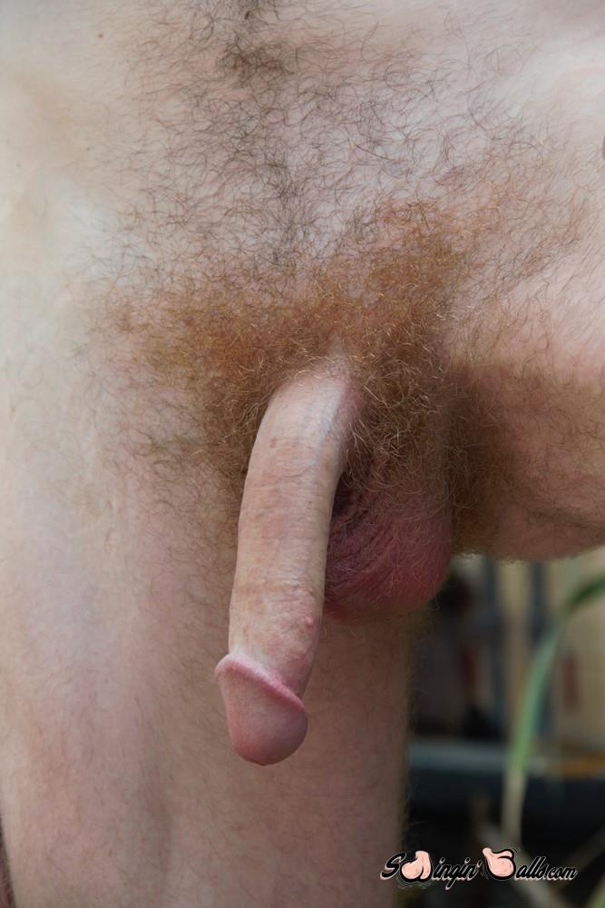 Swingin-Balls-Joshua-Martinez-Hairy-Guys-With-A-Big-Dick-Masturbation-Video-05 Tall Furry Ginger Guy Jerking His Big Hairy Cock On The Patio