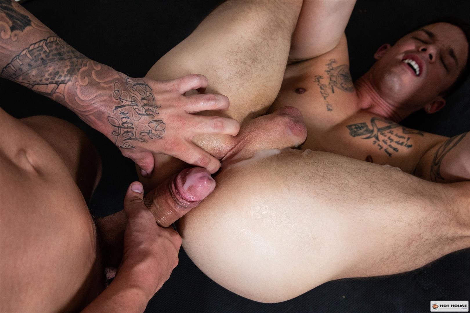 Hot-House-JJ-Knight-and-Nic-Sahara-Big-Cock-Jocks-Fucking-Bareback-15 JJ Knight Floods Nic Sahara's Ass With Cum